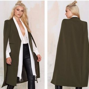 Haoduoyi open front blazer Cape NWT